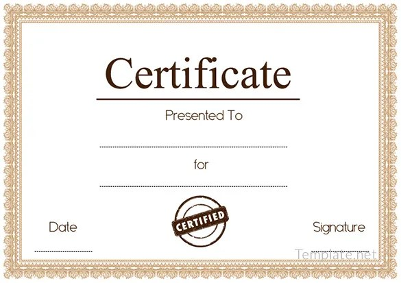 Free Printable Blank Certificate Templates - mandegarinfo