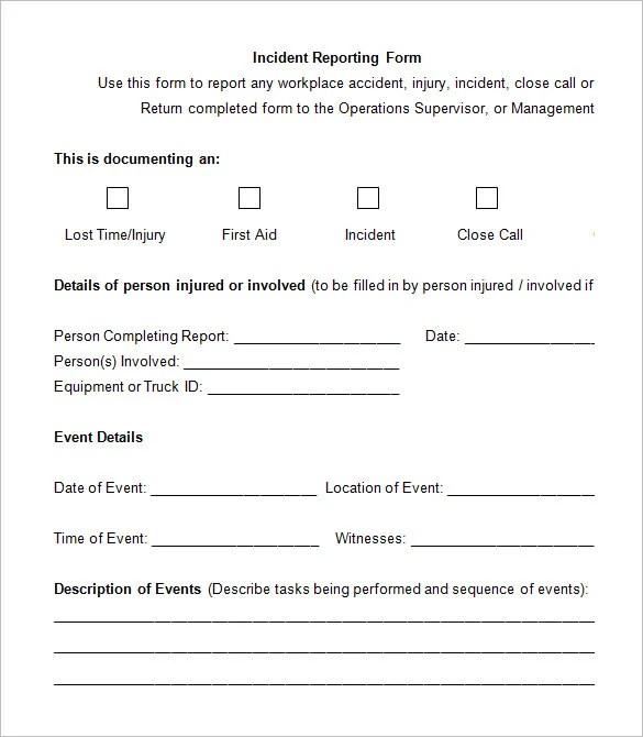 12+ Employee Incident Report Templates - PDF, DOC Free  Premium