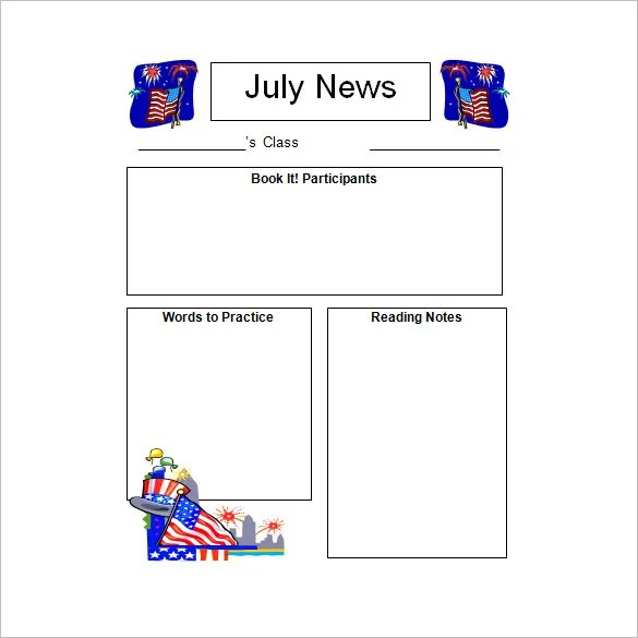 10+ Awesome Classroom Newsletter Templates  Designs Free - kindergarten newsletter template