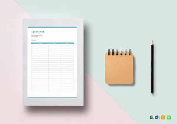 Sign In Sheet Templates - 64+ Free Word, Excel, PDF Documents - blank sign in sheet