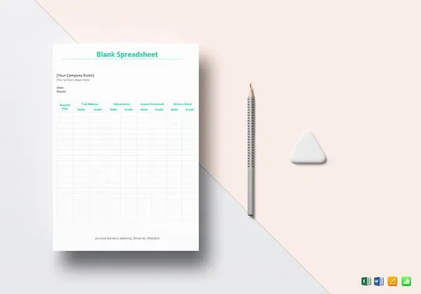 250+ Blank Templates - Free Word, Excel, PDF Documents Download