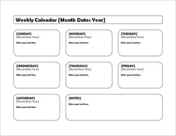 40+ Microsoft Calendar Templates - Free Word, Excel Documents Free - free week calendar template