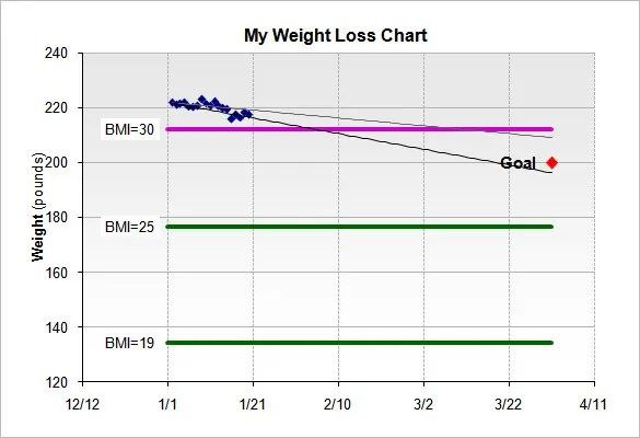 Weight Loss Chart Template \u2013 9+ Free Word, Excel, PDF Format - Free Chart