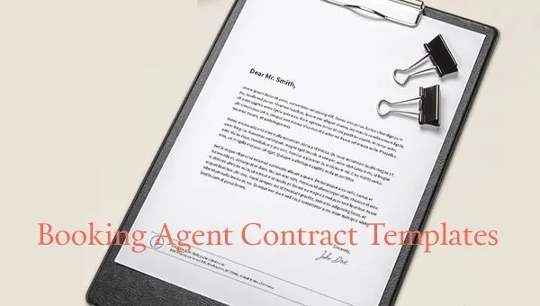 8+ Booking Agent Contract Templates - Free Word, PDF Documents