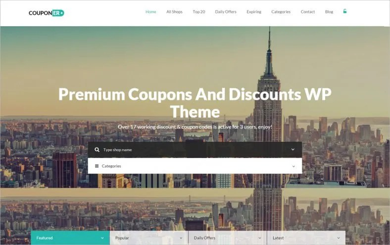 21+ Best Coupon Website Templates  Themes Free  Premium Templates