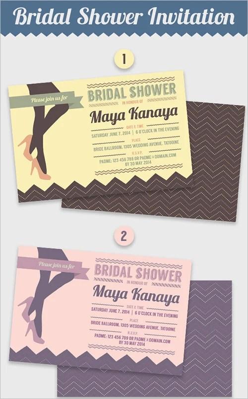 30+ Bridal Shower Invitations Templates PSD Invitations Free - brides invitation templates