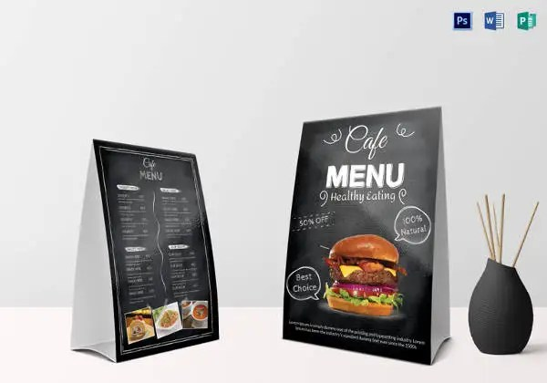 Cafe Menu Template - 41+ Free Word, PDF, PSD, EPS, InDesign Format