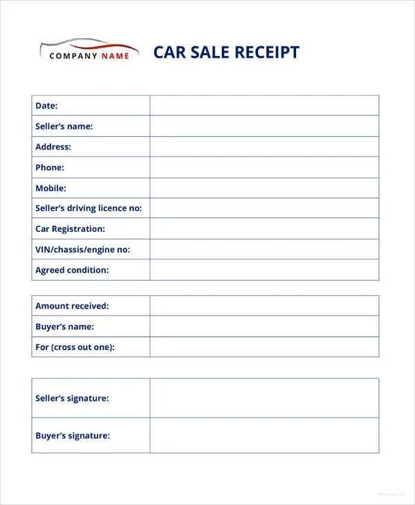 14+ Car Sale Receipt Templates - DOC, PDF Free  Premium Templates
