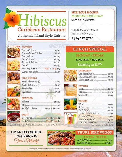 Breakfast Menu Templates \u2013 35+ Free Word, PDF, PSD, EPS, InDesign