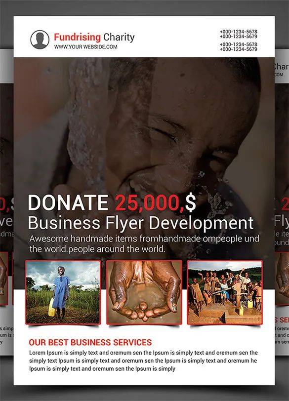 free fundraising flyer templates