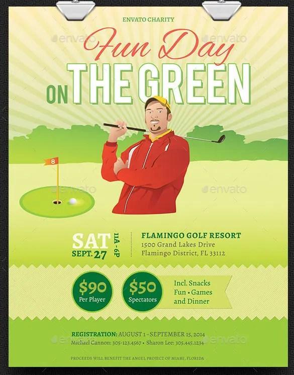 Fundraiser Flyer Templates \u2013 37+ Free PSD, EPS, AI Format Download - golf tournament flyer template