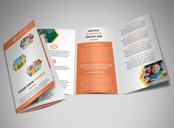 17+ School Brochure PSD Templates  Designs Free  Premium Templates - blank brochure templates for kids
