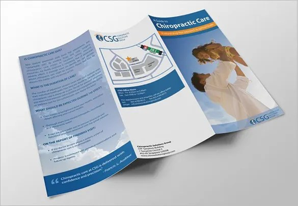 14+ Best Chiropractic Brochure Templates - PSD Designs Free