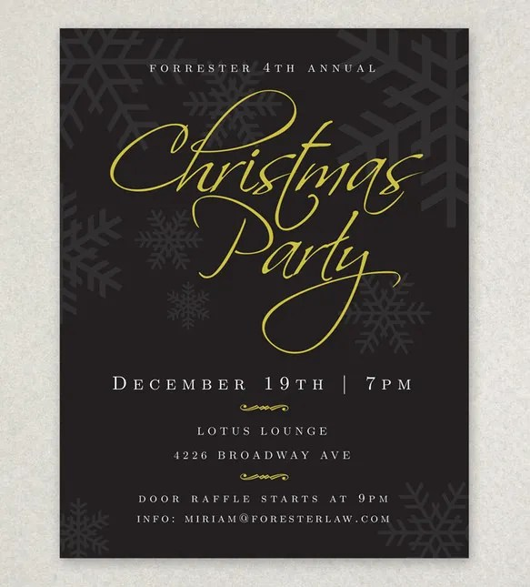 23+ Holiday Party Flyer Templates  PSD Designs Free  Premium - holiday party flyer template