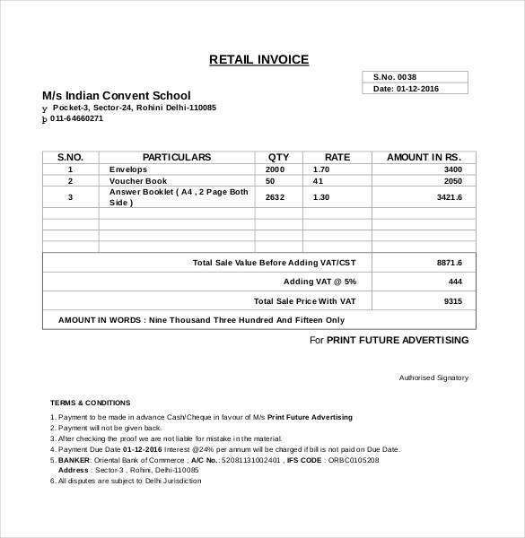 60+ Microsoft Invoice Templates - PDF, DOC, Excel Free  Premium
