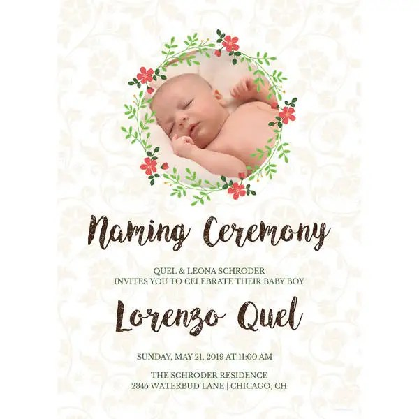 41+ Naming Ceremony Invitations - Free PSD, PDF Format Download