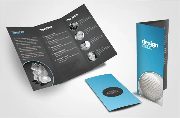 Creative-Tri-fold-Brochure-Design-Layout-for-Agencyjpg (585×386 - business pamphlet templates free