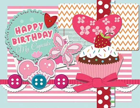 Birthday Card Template - 35+ PSD, Illustrator, EPS Format Download - happy birthday cards templates