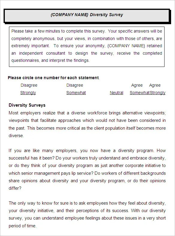 employee survey template word - Ozilalmanoof - free questionnaire template word