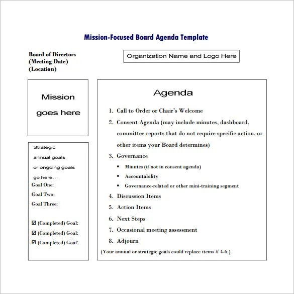 9+ Meeting Outline Templates \u2013 Free Word, PDF Documents Download - Meeting Outline Sample