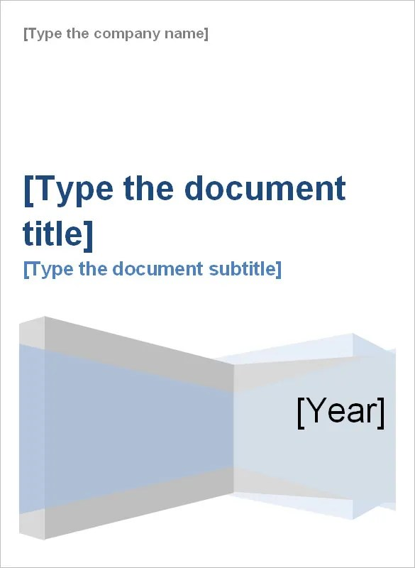 cover page of report template in word - Funfpandroid