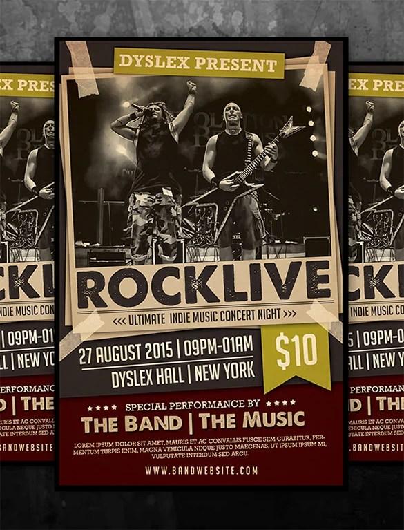 free concert poster templates - Goalgoodwinmetals