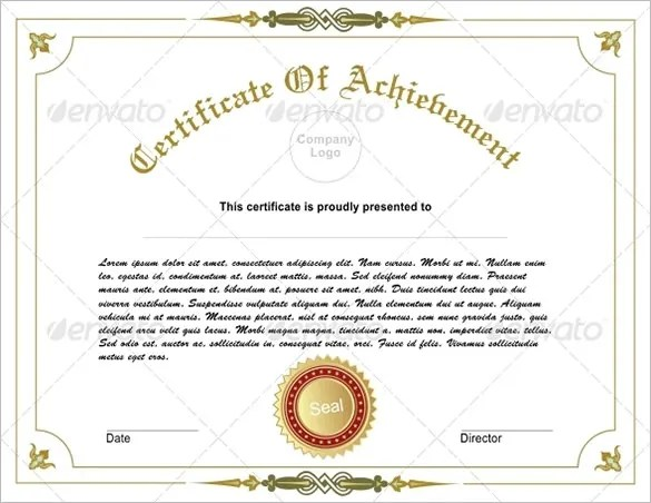34+ Fabulous Achievement Certificate Templates  Designs Free - blank achievement certificates