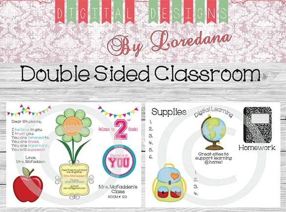 9+ Awesome Classroom Newsletter Templates  Designs Free  Premium