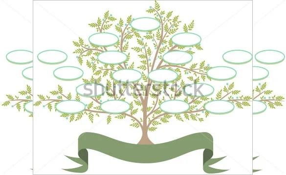 11+ Popular Editable Family Tree Templates  Designs Free