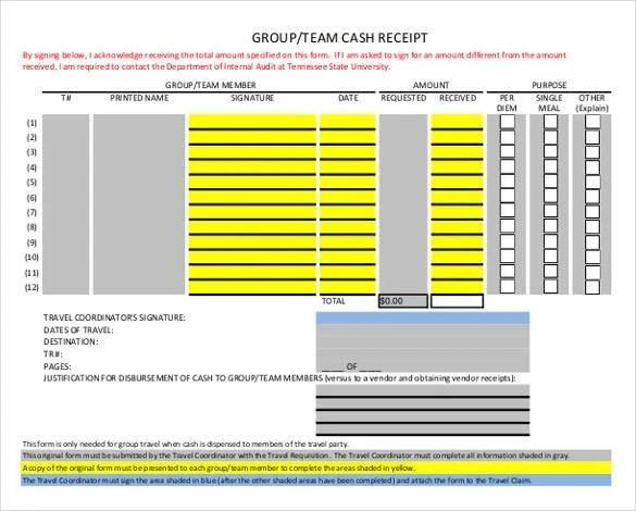 Money Receipt Template - 28+ Free Word, Excel, PDF Format Free - money receipt template word