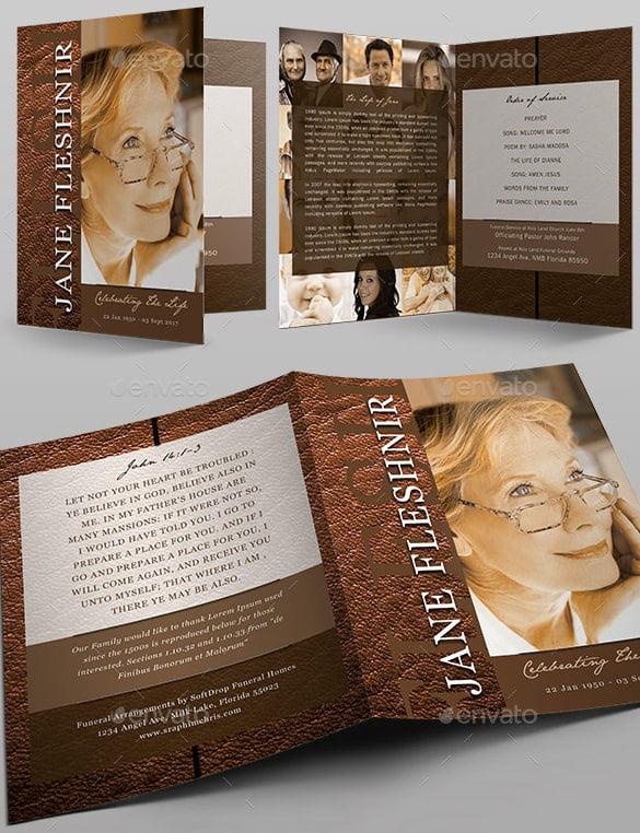 25+ Funeral Program Templates - PDF, PSD Free  Premium Templates