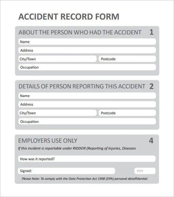 12+ Employee Incident Report Templates - PDF, DOC Free  Premium - accident reports template