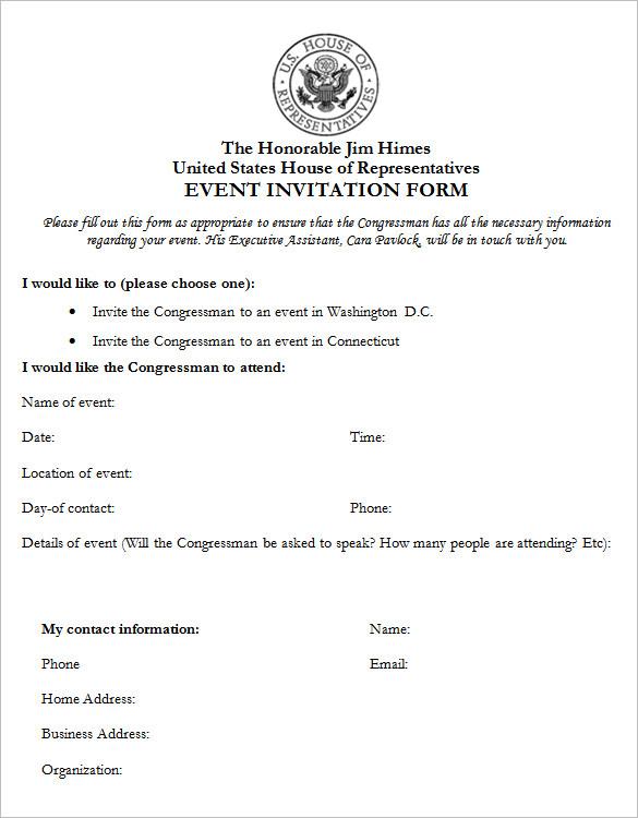 invitation forms - 28 images - invitation letter informal saevk - invitation forms