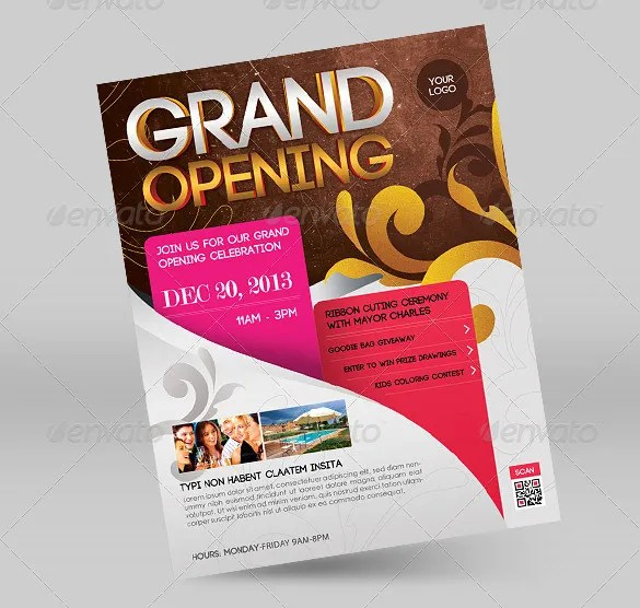Grand Opening Flyer Template - 43+ Free PSD, AI, Vector EPS Format - grand opening flyer template