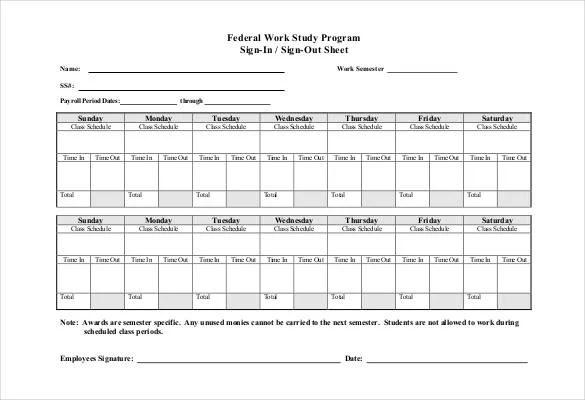 75+ Sign In Sheet Templates - DOC, PDF Free  Premium Templates