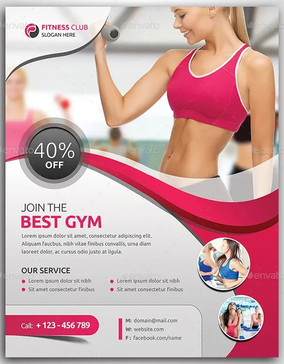 Fitness Flyer Template - 29+ Free PSD Format Download Free - Fitness Templates Free