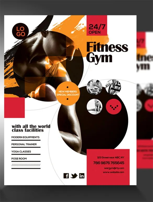 Fitness Flyer Template - 29+ Free PSD Format Download Free - fitness brochure template