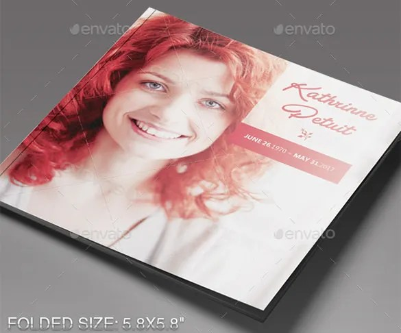 30+ Funeral Program Brochure Templates \u2013 Free Word, PSD, PDF, Excel - funeral brochure template