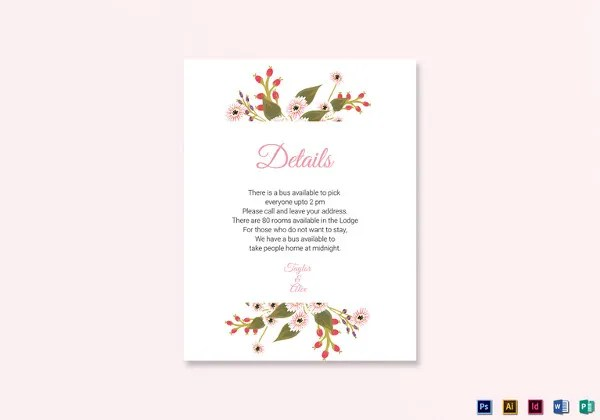 Wedding Card Template - 83+ Free Printable Word, PDF, PSD, EPS - bus pass template