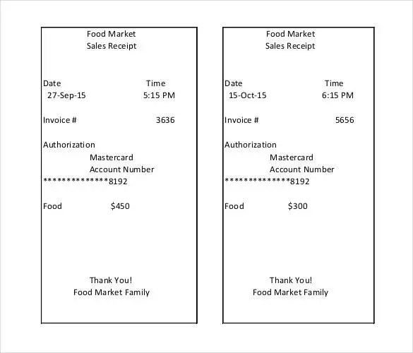 Sales Receipt Template - 27+ Free Word, Excel, PDF Format Free - printable sales receipts
