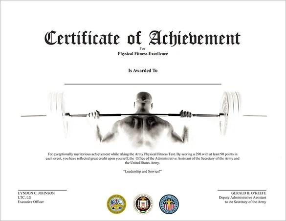 33+ Fabulous Achievement Certificate Templates  Designs Free - free achievement certificates