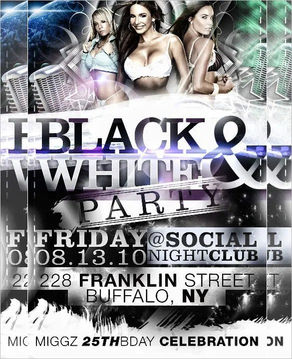 21+ Black and White Flyer Templates - PSD, AI, InDesign Free