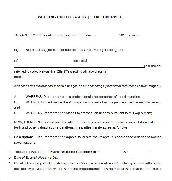 Sample Wedding Contract Agreements - dj contract template