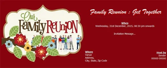 Graphics For Family Reunion Banner Graphics wwwgraphicsbuzz - get together invitation template