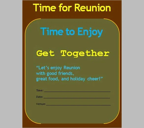 Get Together Invitation Template - 21+ Free PSD, PDF Formats - invitation for a get together