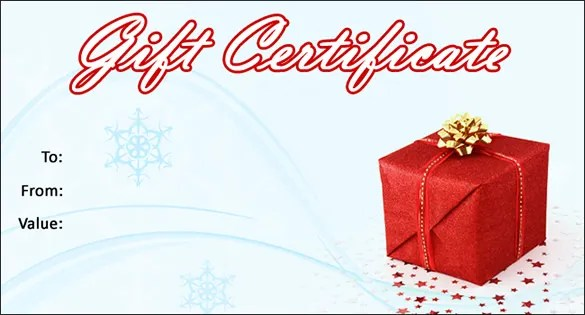Christmas Gift Certificate Template - 16+ Word, PDF Documents - christmas template free