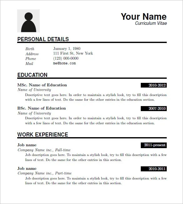 resumes for download - Boatjeremyeaton - latex resume templates