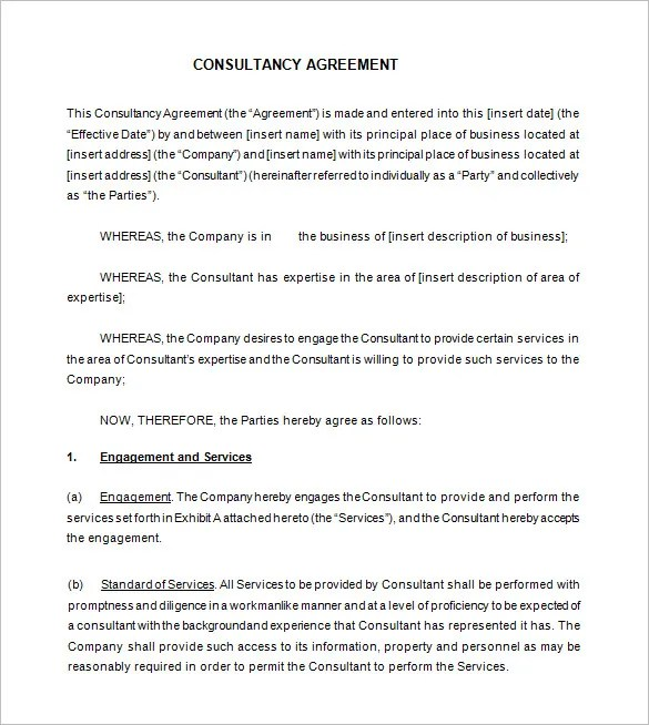8+ Consultant Contract Templates- Free Word, PDF Documents - business service contract template