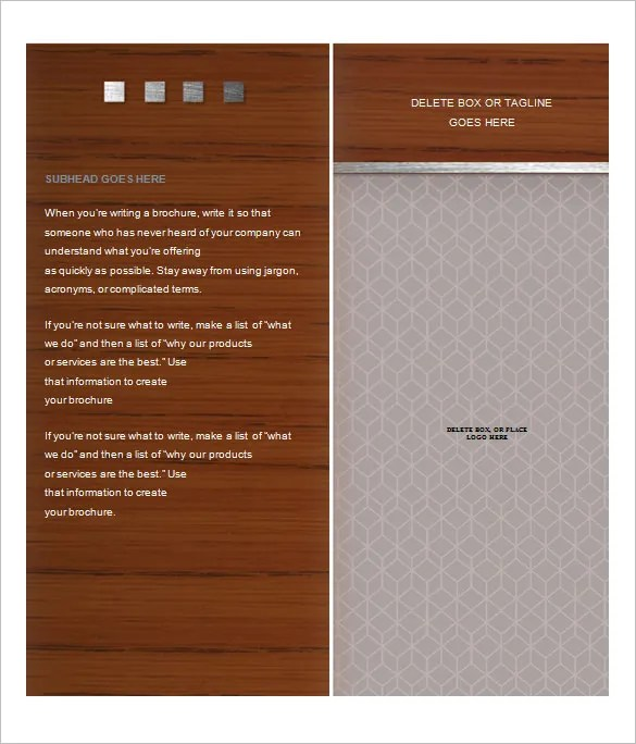 Microsoft Brochure Template - 49+ Free Word, PDF, PPT, Publisher
