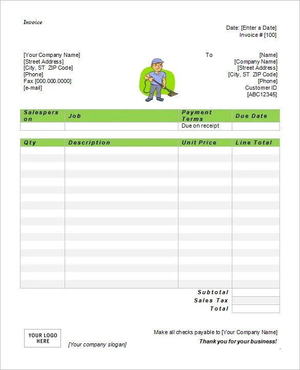 Microsoft Invoice Template - 53+ Free Word, Excel, PDF Free - microsoft invoice template